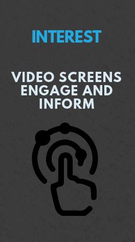 Video Screens Increase Engagement