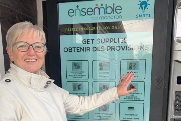 Ensemble Moncton's Debby Warren shows the SMRT1POD fighting the opioid crisis